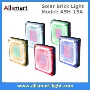 "Quality 8""x 8"" inch Square Solar Paver Lights Patio Solar Brick Lights Garden Landscaping Solar Underground Inground Lights for sale"