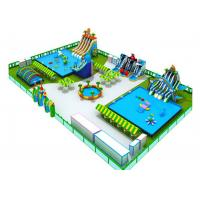 Buy cheap Earth - Friendly Combined Inflatable Amusement Park With Slide And Water Pool from wholesalers