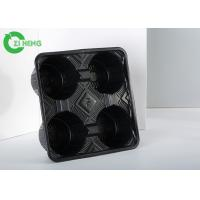 Quality Hot Drink Plastic Cup Holder Tray, Hard Strong Coffee Tray Holder Eco Friendly for sale