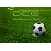 Buy cheap Synthetic Soccer Field Artificial Turf Grass With Drainage Holes Dry Fast from wholesalers