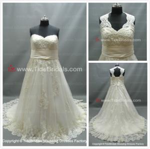 Quality Sweet Heart detachable Straps Plus size Lace bridal dress #AS1517 for sale
