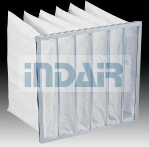 China Lightweight High Flow Air Filter 595x595x600mm With Aluminium Zinc Plate Frame on sale