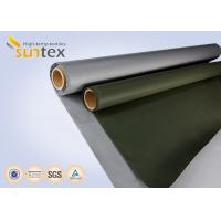 Quality Fiber Glass Insulation Welding Blanket Roll Silicone Rubber Coated Fiberglass Fabric for sale