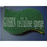 China Cellulose sponge with scrubber on sale