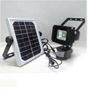 Quality 20w led human sensor solar flood light with solar panel grey or black housing for sale
