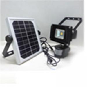 Quality 5w led human sensor solar flood light with solar panel grey or black housing for sale