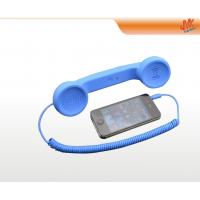 Quality OEM and ODM portable blue Anti Radiation Retro Cell phone Handset with 3.5mm plug for sale