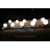 Quality 190T Ripstop White Large Inflatable Ball LED Light Pole Balloons for sale