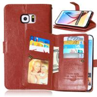 Samsung Galaxy S4 S5 S6 S7 Edge+ Wallet Case Leather Cover Bags Pouch 9 Cards