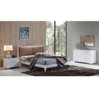 China White High Gloss Modern Bedroom Furniture Sets Solid Wood Frame OEM Avaliable on sale