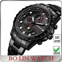 China 10 ATM Water Resistant Stainless Steel Sports Watch With PVD Plating on sale