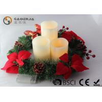 Quality 3pk Ivory Wax Decorative Led Candles With Remote Control DL-005 for sale