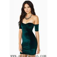 Buy cheap inverted cashmere Slim sexy halter dress chest wrapped skirt clubwear sexy from wholesalers