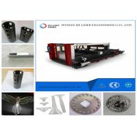 Quality Round Square Pipe Metal Laser Cutting Machine , Fiber Optic Laser Cutter Speed Adjustable for sale