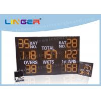 Quality Iron / Steel Frame LED Cricket Scoreboard Remote Control 12 Inch 300mm Digit Height for sale