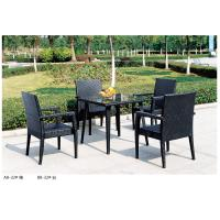 Quality 2014 open air plastic rattan table chair set for four person for sale