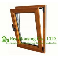 Quality Tilt and Turn Wood Clad Aluminum Window with Insulating Double Glass For Villas/Apartment for sale