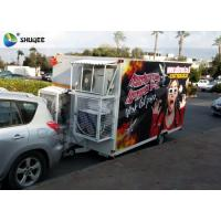 Quality Trailer Mobile 5D Cinema Black / Red Luxury Chair with Complete Special Effect Machine for sale
