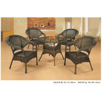 Quality 2014 wicker rattan bistro dining table chair set for sale