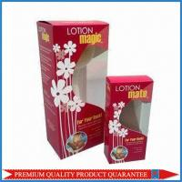Quality Clear Plastic Window Custom Color Offset Print Paper Packaging Box Tuck Top End for sale