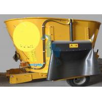 Quality 8pcs Tyres Animal Feed Grinder Mixers , High Speed Feed Mixer Machine for sale