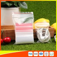 Buy Polythene Clear Ziplock Bags Self Press Bags Grip Seal Bag With Red Lines at wholesale prices