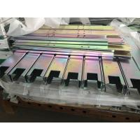 Buy cheap Laser cutting bending Q235 mild steel parts with yellow zinc finish from wholesalers