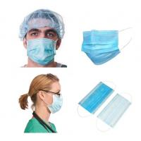 Quality Blue Earloop Pleated 3 Ply Medical Procedure Disposable Surgical Mask for sale