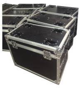Quality Aluminum Black Rack Flight Case / Custom Made Flight Cases With Ergonomic Lock for sale