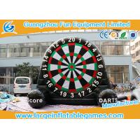 Quality Velcro Giant Inflatable Football Game Single Dart Board Soccer Football Dart for sale