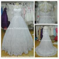 Quality NEW!!! Long sleeves Ball gown wedding dress Lace Scallop edges Bridal gown #AS1578 for sale