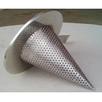 Quality 1/4'' Perforated Holes Conical Or Basket Type strainer Mounting Between Two Flanges for sale