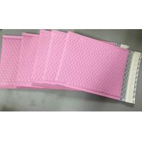 Quality Custom Aluminum Foil Pink Metallic Bubble Envelope Moisture Proof for sale