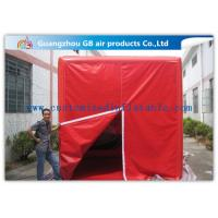 China Fire - Proof Red Inflatable Cube Tent Custom Printed Tent for Advertising for sale