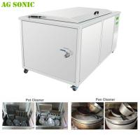 Quality Deep Hot Water Ultrasonic Cleaning Machine for Catering Mobile Cleaning Services with Casters for sale