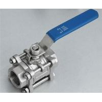 Floating 3 - pc  Ball Valves Stainless Steel For High Pressure Welding End for sale