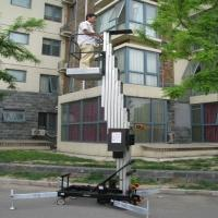 China Outdoor safety telescopic work platform single mast climbing work platform on sale