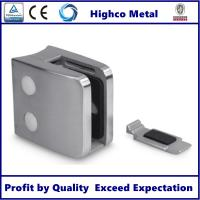 Stainless Steel Square Glass Clamp with Flat Back 55x55mm Fit 8-12.76mm Glass for Staircase Glass Railing