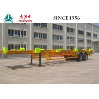 Quality Heavy Duty 50 Tons Skeletal Container Trailer 12420*2480*1540 Dimension for sale