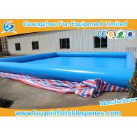 Quality 0.9mm Plato PVC Tarpaulin Inflatable Water Pool For Water Floating Park Games for sale