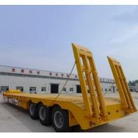 Quality 50T Loading Capacity Second Hand Semi Trailers With Carbon Steel Flat Bed for sale
