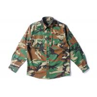 Woodland Camo Tactical Combat Shirt With Hidden Pencil Pockets Long Sleeve for sale