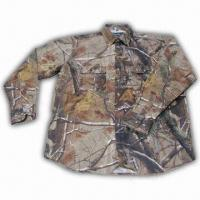 Quality Hunting Shirt with Realtree Camo and Cotton Fabric Shell for sale