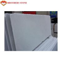 1.8cm Thickness Thassos White Marble Stone , Polished Honed White Crystal Marble for sale