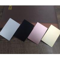 Quality Colored  Metal Business Cards Printing , Square Custom Aluminum Business Card for sale