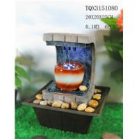 Buy cheap Polyresin Water Fountain Hand Painting With Led Lights For Home Decoration from wholesalers