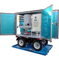 Weatherproof Double Stage Transformer Oil Filtration Plant with Trailer for sale