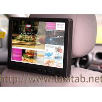 Quality 10 Inch Taxi Headrest Advertising Capacitive Multi Touch Screen With 3G , GPS , Motion Sensor for sale