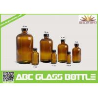 Quality 20/410 Neck 120ml Amber Boston Round Bottle With Phenolic Cap for sale