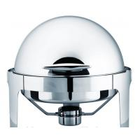 China 6L Round Roll Chafing Dish , Stainless Steel Roll Top Cookware on sale
